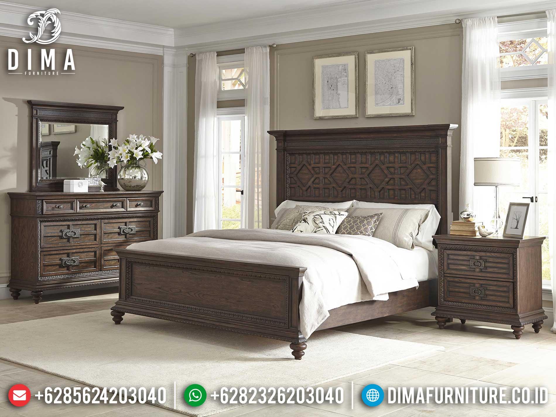 New Year Edition Tempat Tidur Minimalis Kayu Jati Jepara Natural Color TTJ-1121