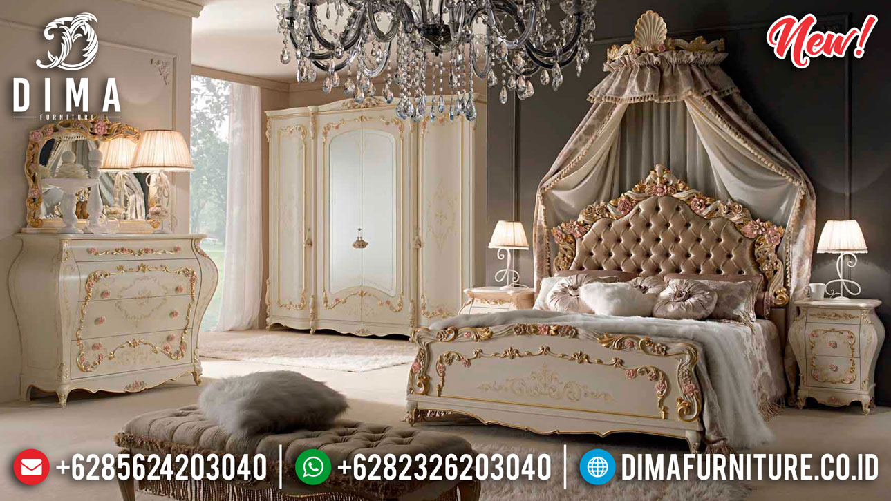 Princes Room Tempat Tidur Mewah Diana Luxury Classic With Marquetry TTJ-1083