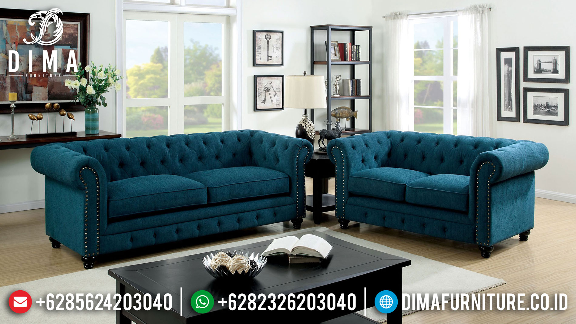 Sofa Chesterfield Green Canyon Gaya Minimalis Modern Best Sale Product TTJ-1059