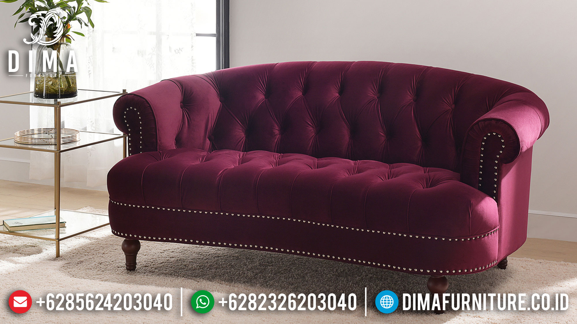 Sofa Minimalis Modern 3 Dudukan Desain Futuristic Beauty Living Room Style TTJ-1060