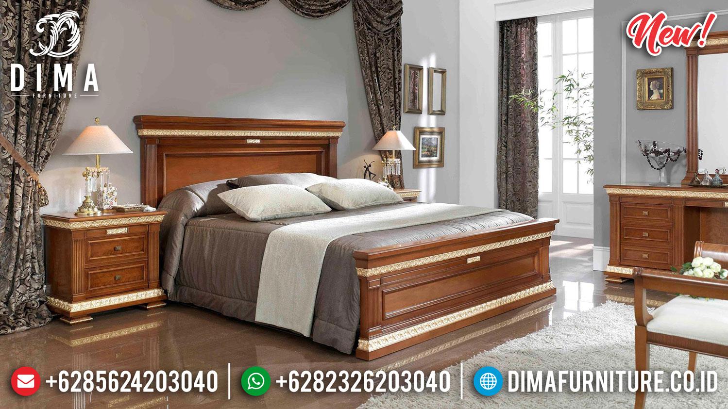 Tempat Tidur Jati Minimalis Modern Natural Bright Brown New Sale 2020 TTJ-1018