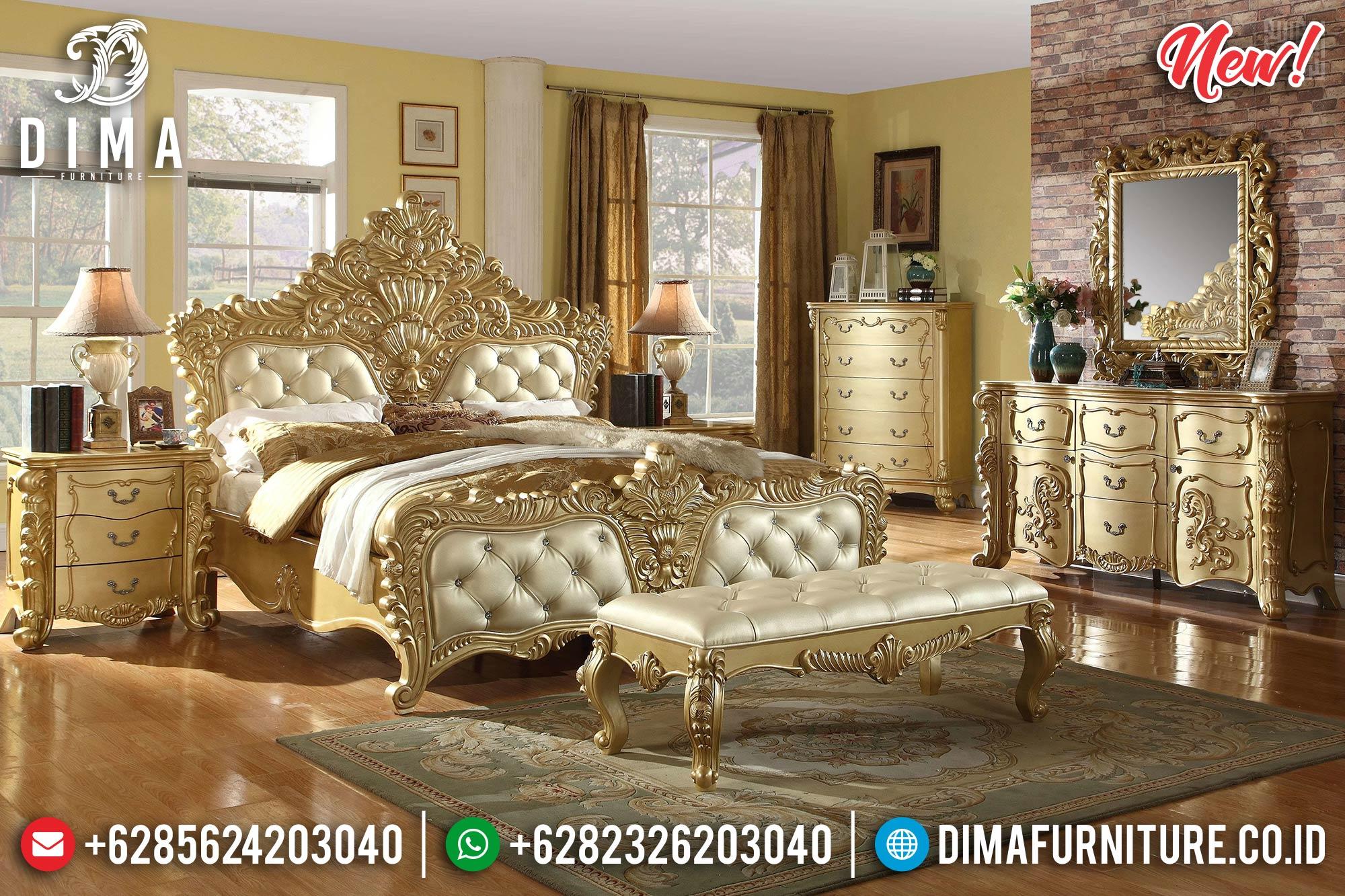 Beauty Design Tempat Tidur Mewah Jepara Ukiran Golden Shining Furniture Jepara TTJ-1230
