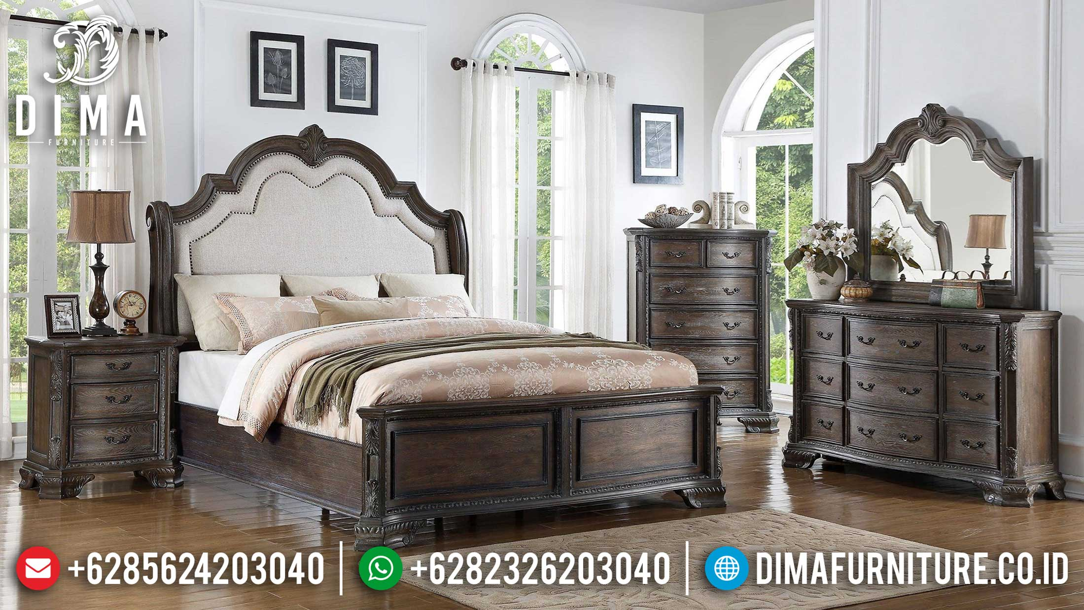 Best Friday Sale Kamar Set Minimalis Classic Natural Oldest Design Interior TTJ-1183
