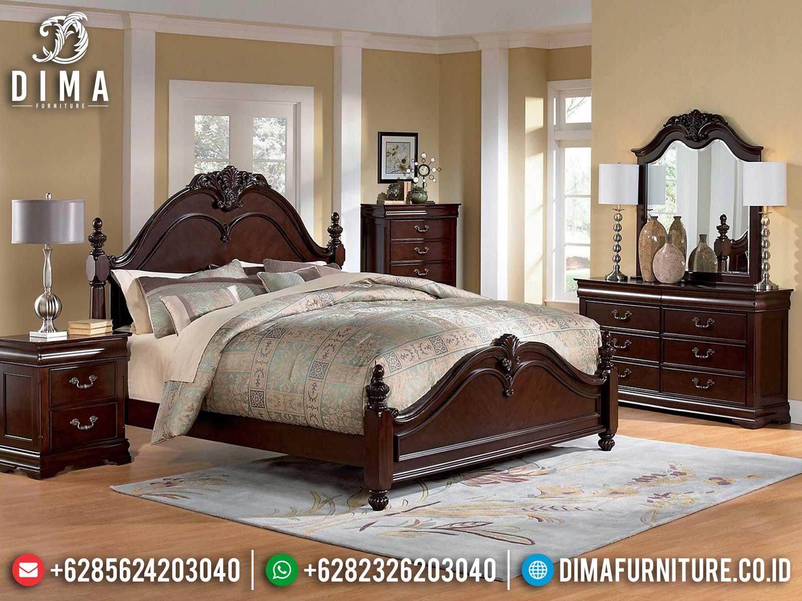 Great Wood Tempat Tidur Mewah Kayu Jati Natural Classic Furniture Jepara TTJ-1176