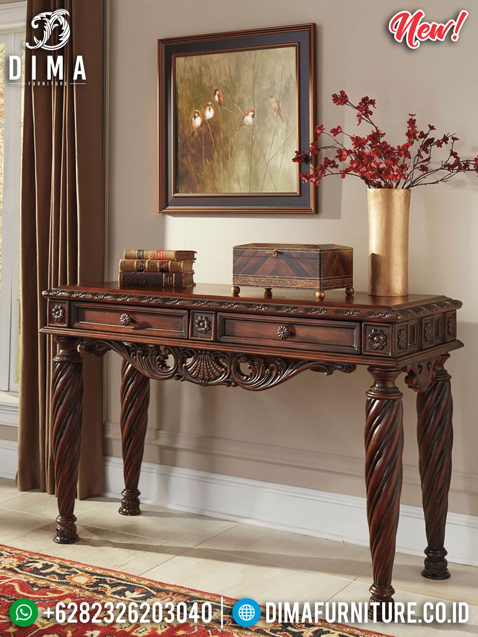 Harga Meja Konsul Jati Ukiran Klasik New Style Furniture Jepara Update TTJ-1162