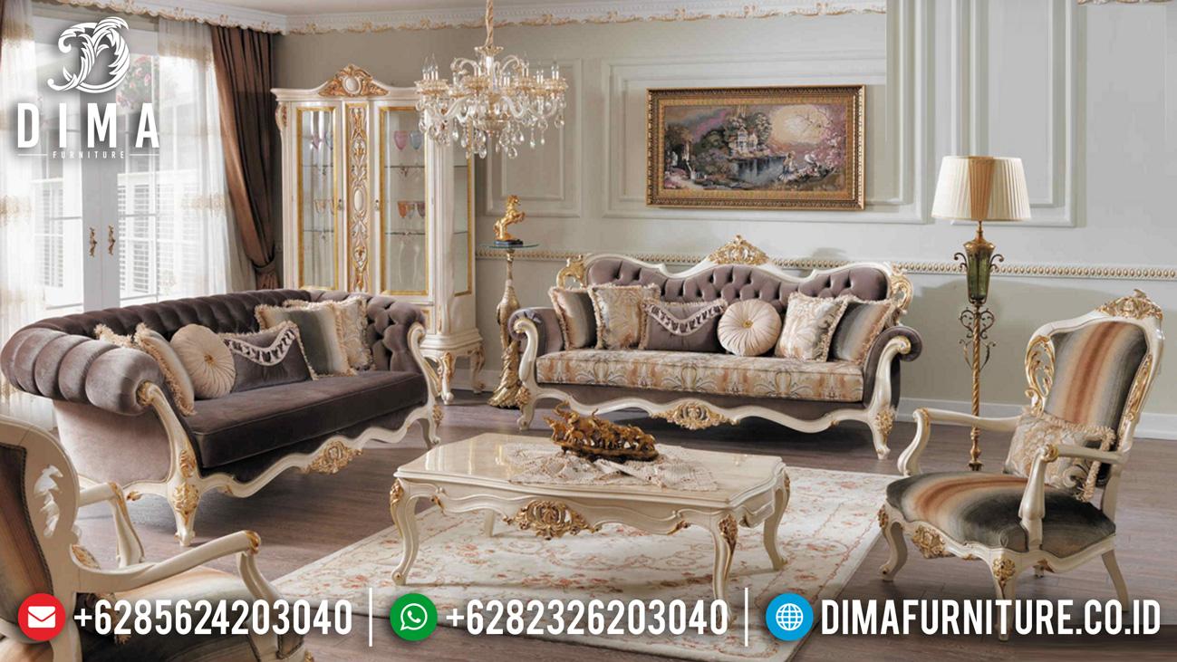 Harga Sofa Mewah Ruang Tamu New Furniture Jepara Luxury Royal Classic TTJ-1243