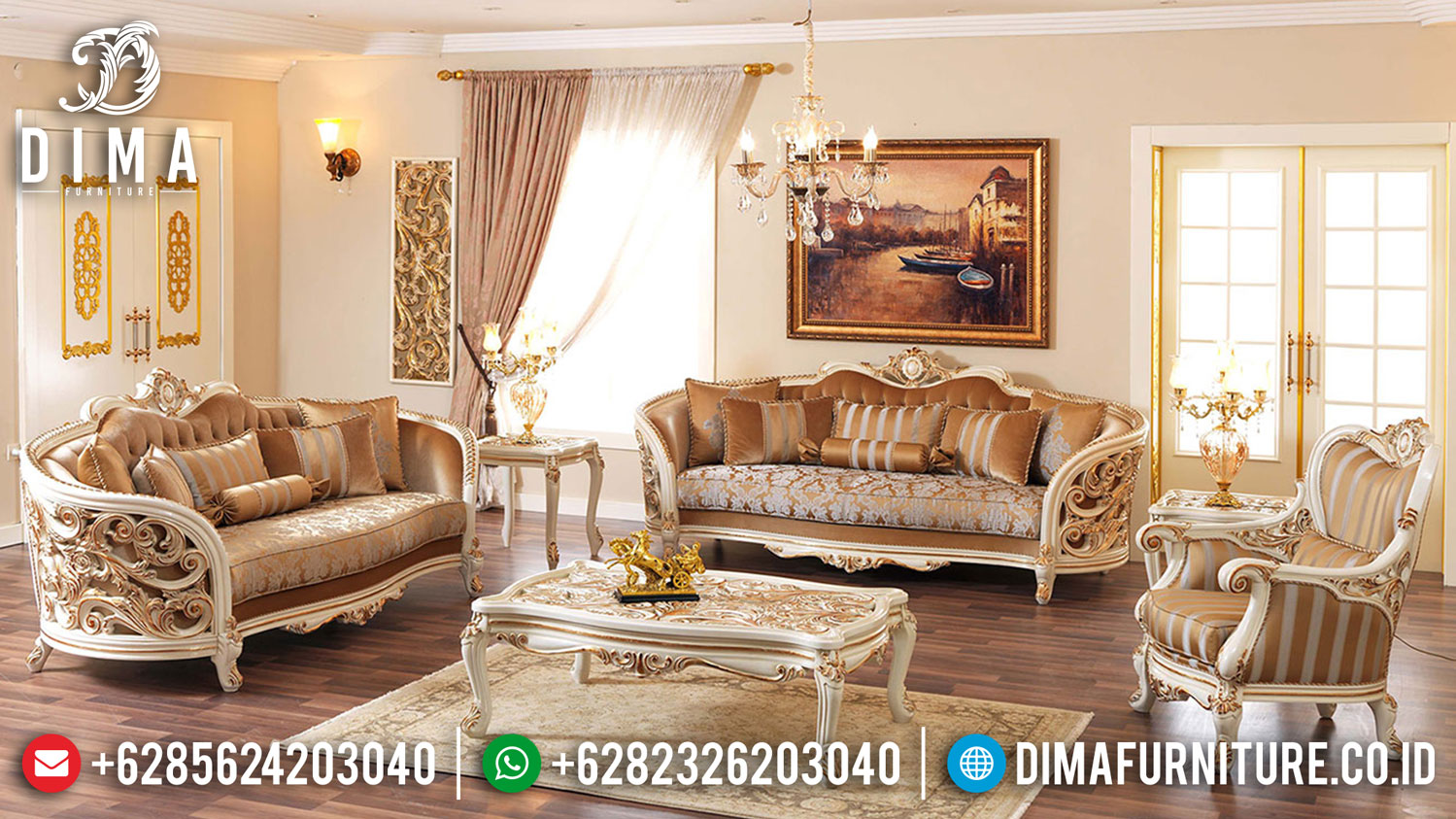 Harga Sofa Tamu Mewah Luxury Carving Christmas Edition Sale Up To 30 % Off TTJ-1234