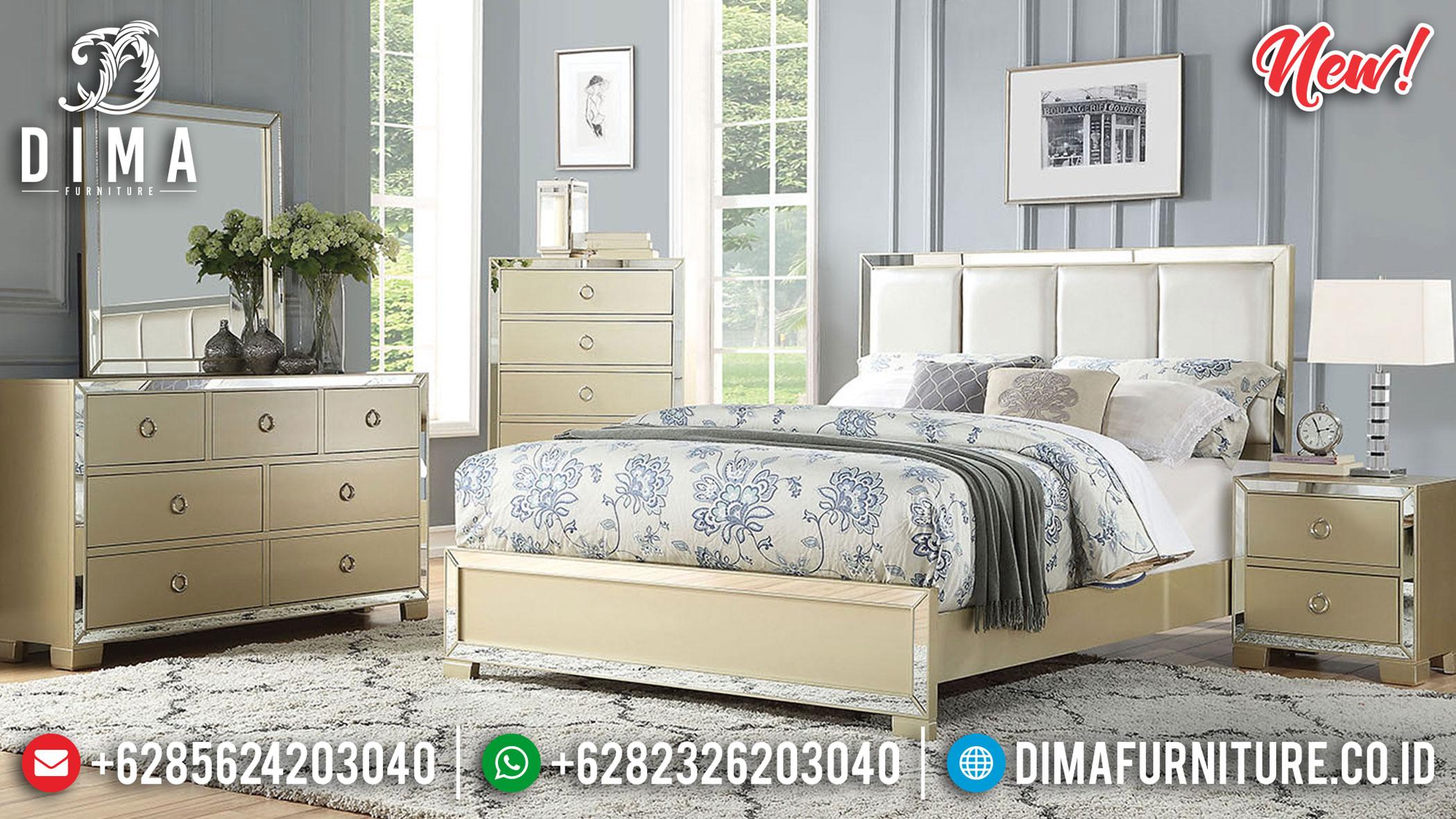 Jual Tempat Tidur Mewah Minimalis Design Golden Champagne Glossy Color TTJ-1169
