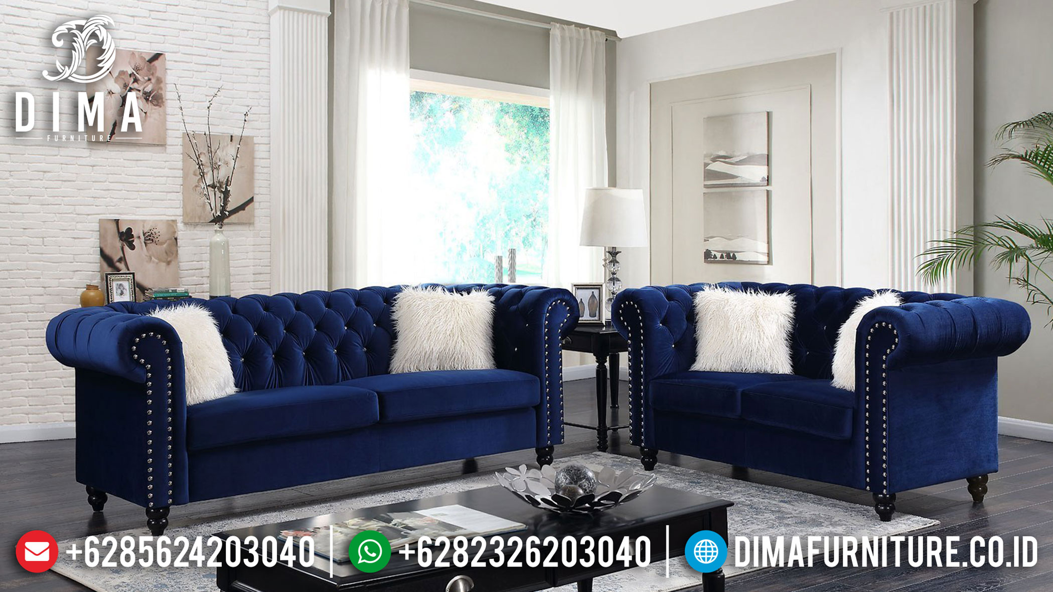 Model Sofa Tamu Minimalis Modern Chesterfield Design New Years Sale Mebel Jepara TTJ-1223