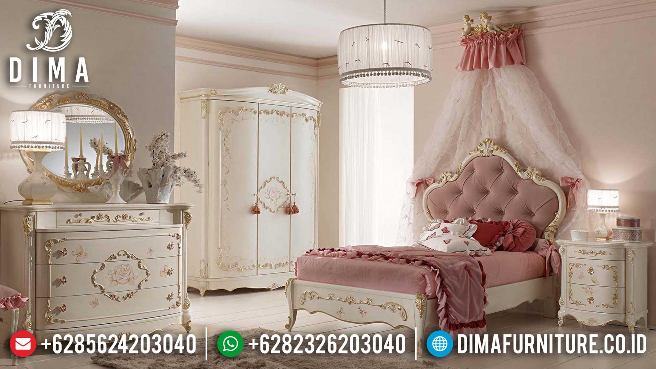 Model Tempat Tidur Anak Mewah Furniture Jepara Luxury Classic Ttj-1144