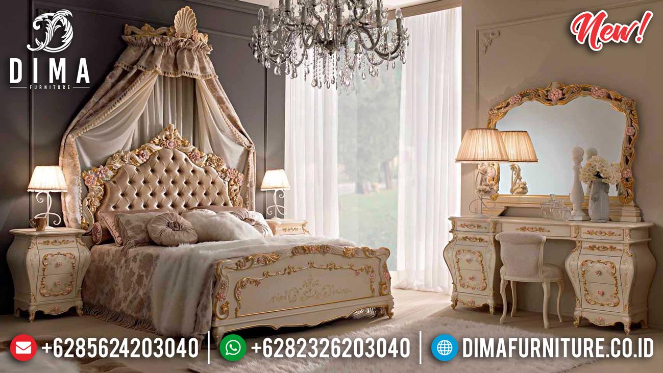 New Arrival Tempat Tidur Mewah Ukiran Jepara Vanity Princes Room Classic Empire TTJ-1171