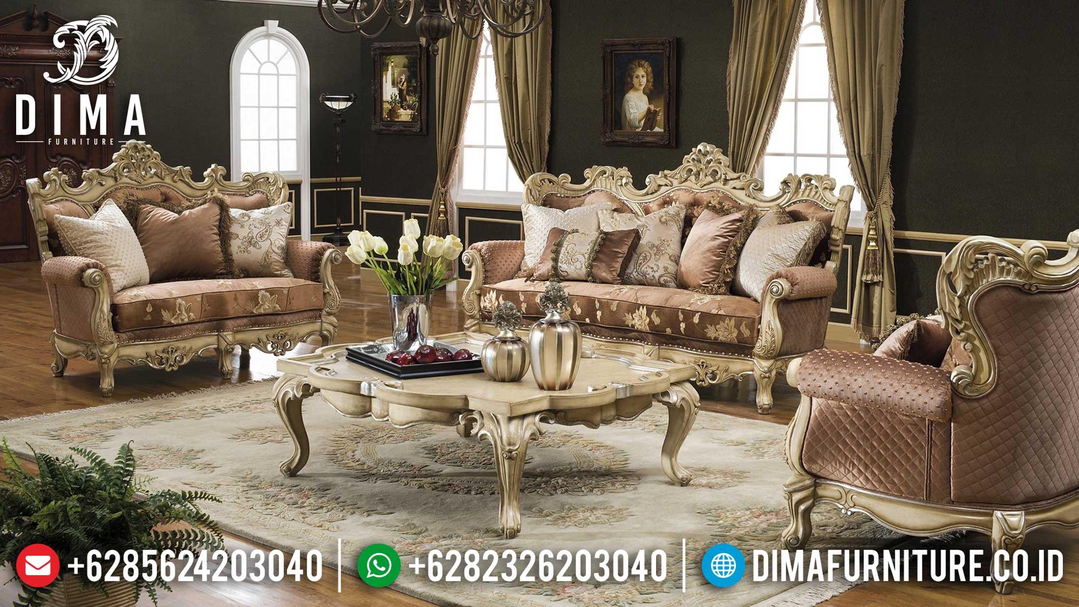 New Sofa Mewah Ruang Tamu Desain Luxury Ukiran Jepara Classic TTJ-1241