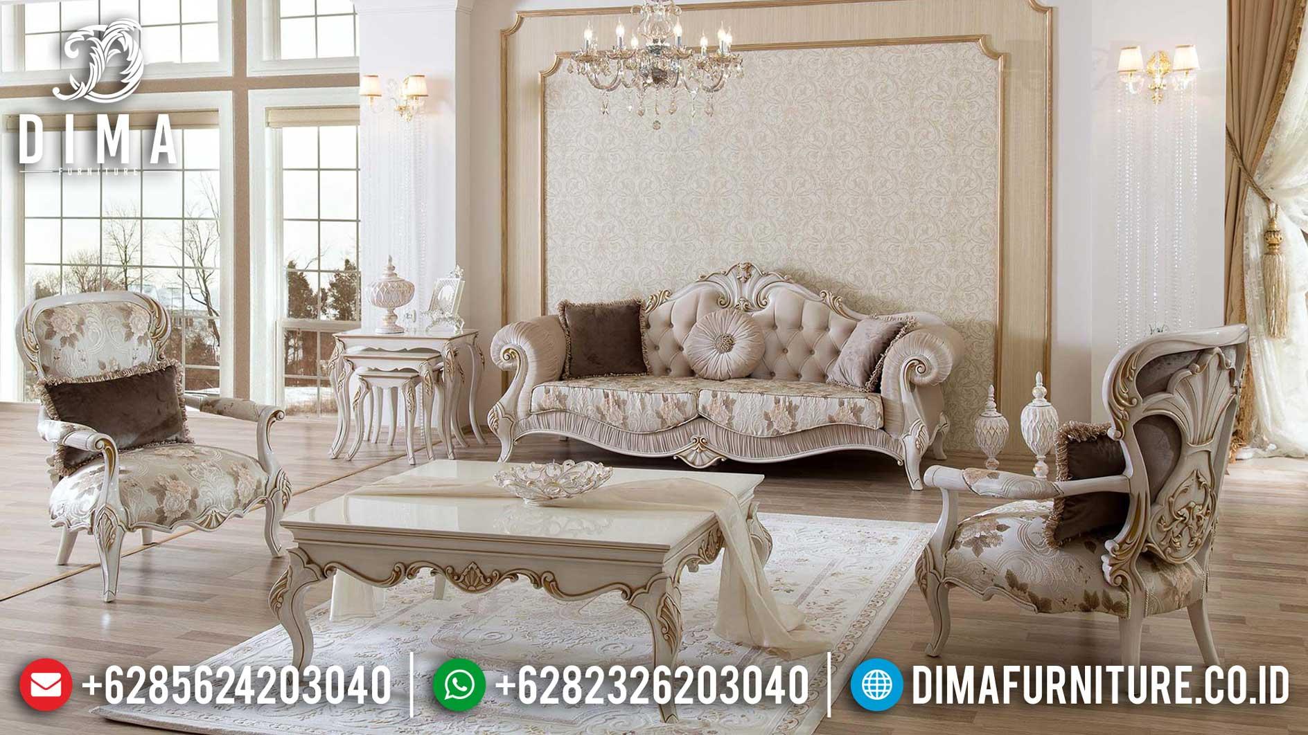 New Sofa Mewah Ruang Tamu, Sofa Tamu Ukiran Luxury, Kursi Tamu Mewah Elegant Style TTJ-1255