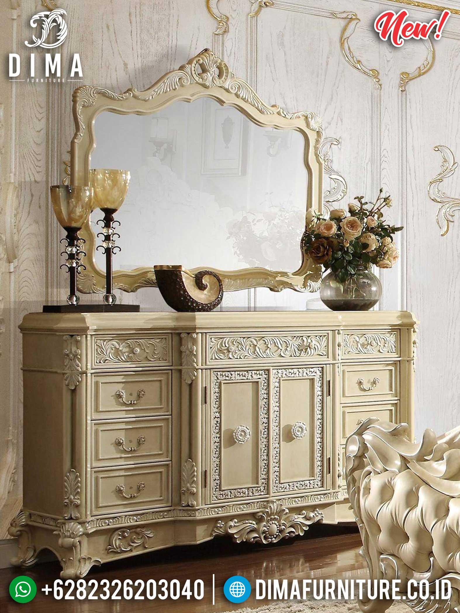 New Years Sale Meja Konsul Mewah Art Deco Ivory Luxury Carving Jepara TTJ-1155