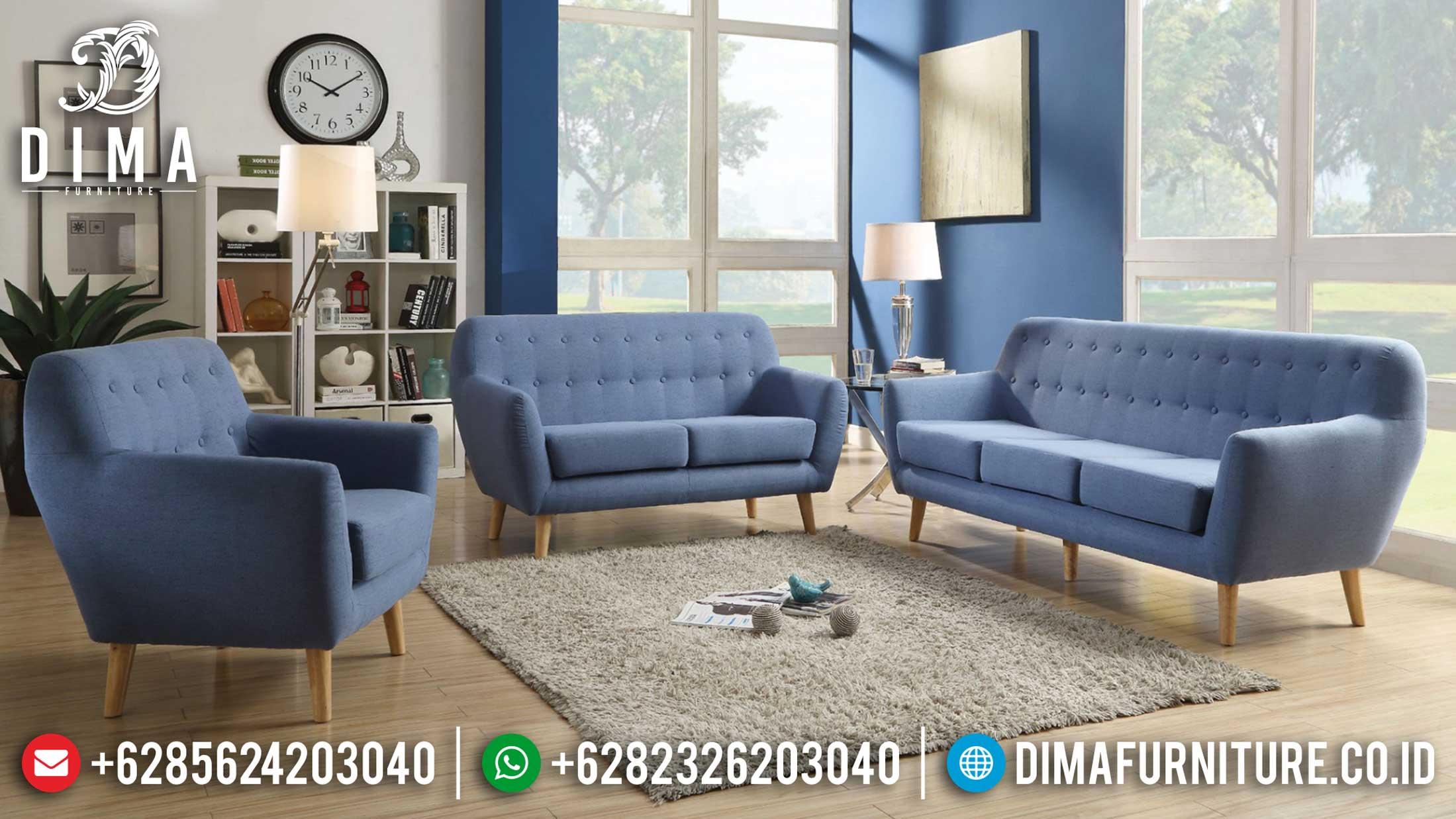 The Great Living Room Sofa Tamu Minimalis Natural Jati Perhutani Jepara TTJ-1214