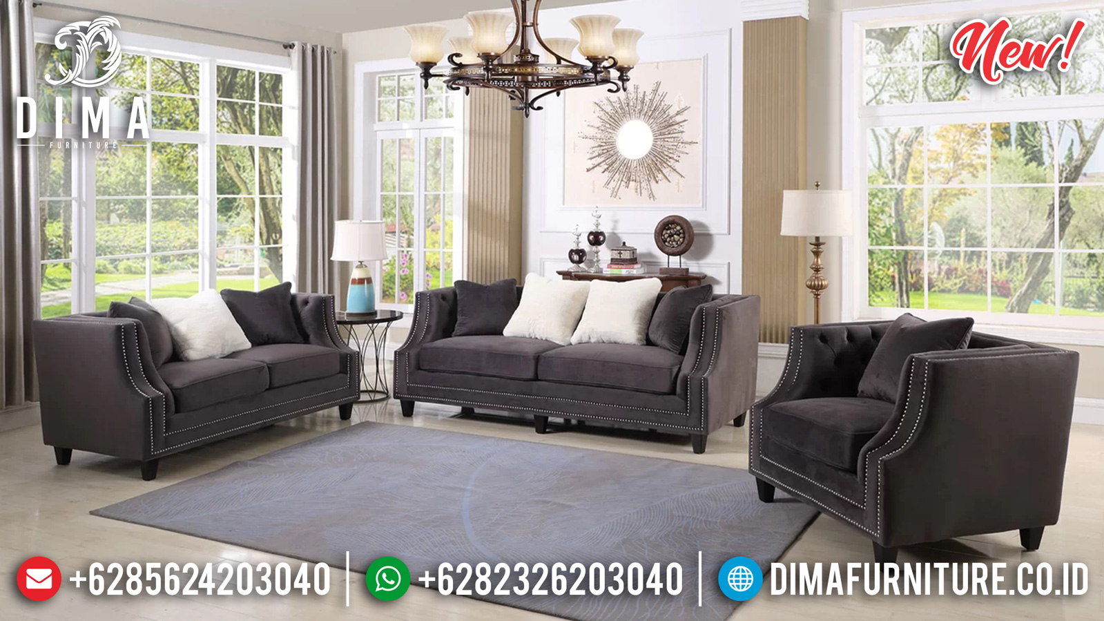 Best Sale Sofa Tamu Minimalis Jepara Luxury Design Mebel Jepara TTJ-1259