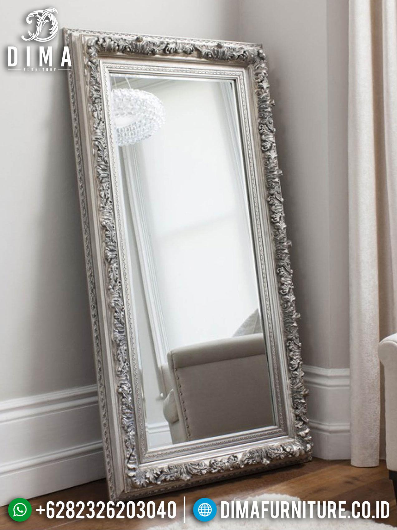 Cermin Rias Stand Mewah, Cermin Hias Luxury Best Quality Mahony Wood Perhutani TTJ-1293