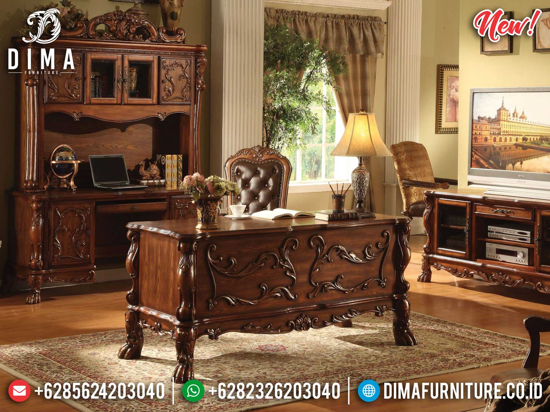 Classic Model Meja Kantor Direktur Mewah Buy Now And Get Promo TTJ-1306