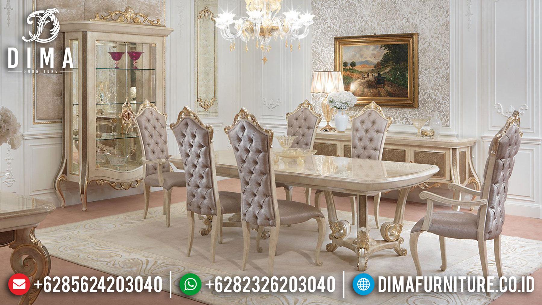 Desain Meja Makan Mewah Classic Luxury New Type Furniture Jepara Release TTJ-1281