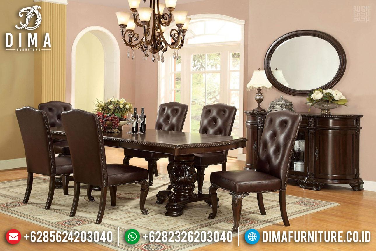 Desain Meja Makan Minimalis Jati Natural Classic Oldies Luxury TTJ-1336