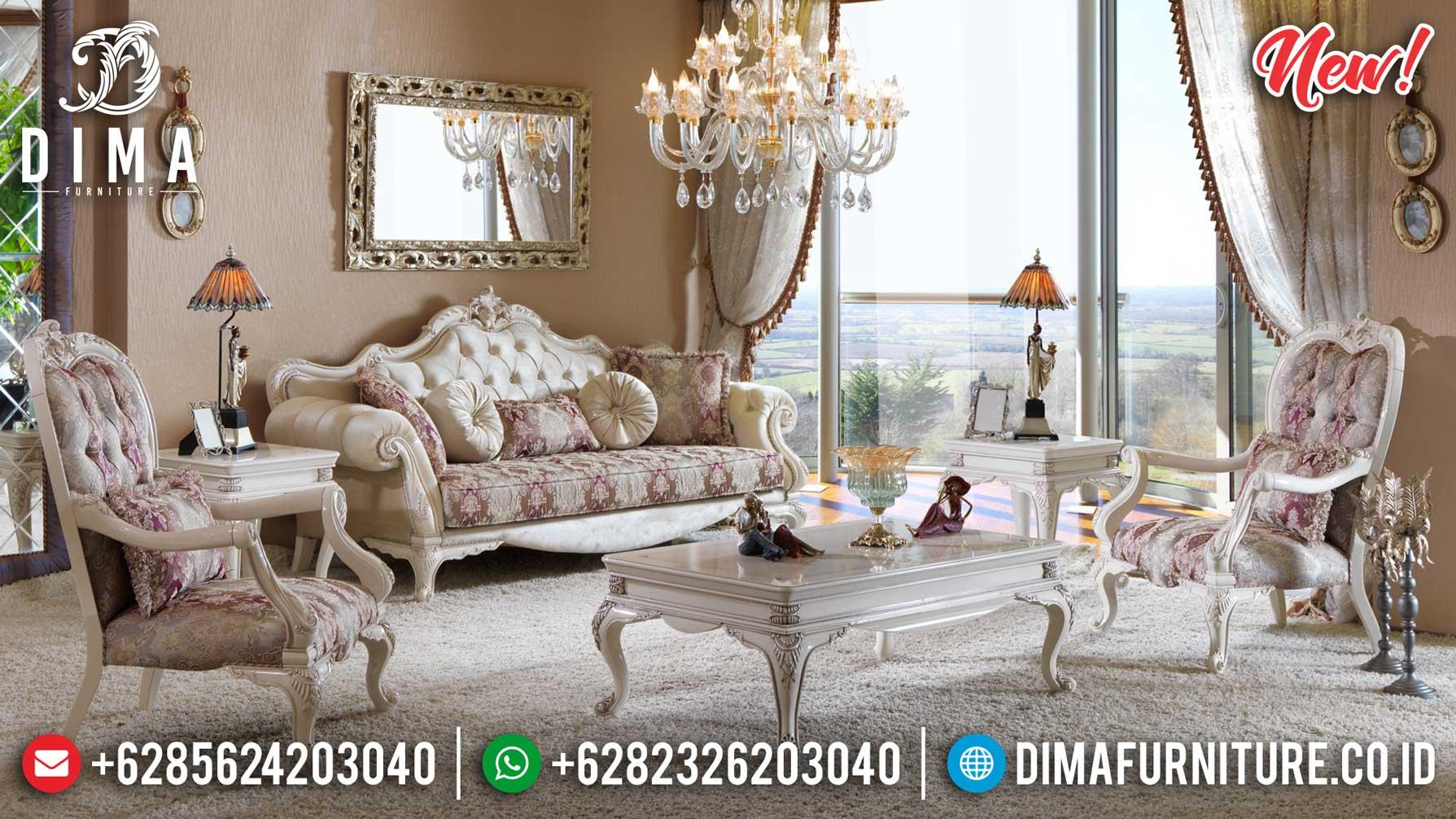 Desain Sofa Tamu Mewah Jepara Luxury Carving High Quality Solid Wood Grade A TTJ-1261