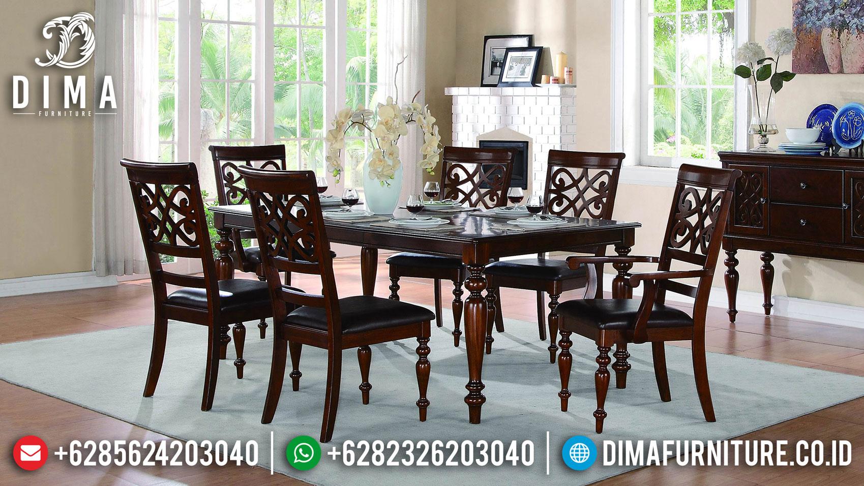 Elegant Meja Makan Mewah Jepara Classic Luxury Style Mebel Jepara Terbaru TTJ-1282