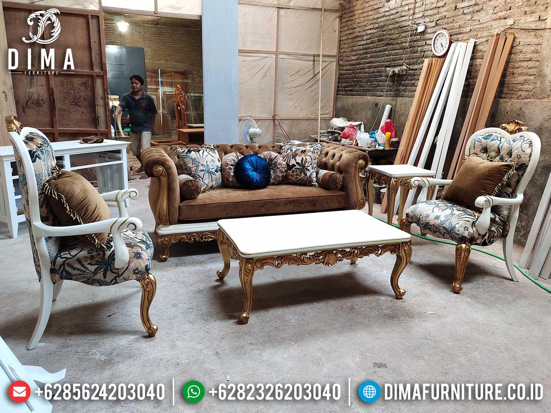 Elegant Set Sofa Tamu Mewah Ukiran Jepara Luxury Classic Best Product TTJ-1274