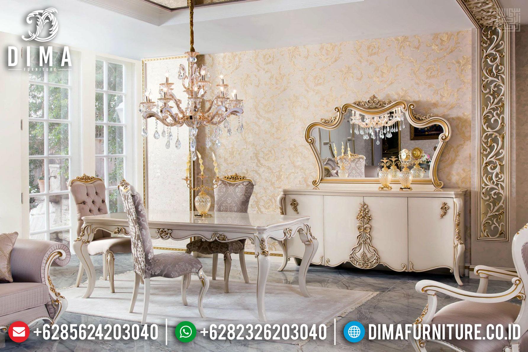 Flash Sale Meja Makan Mewah Klasik Europe Style Luxury Mebel Jepara Terupdate TTJ-1342