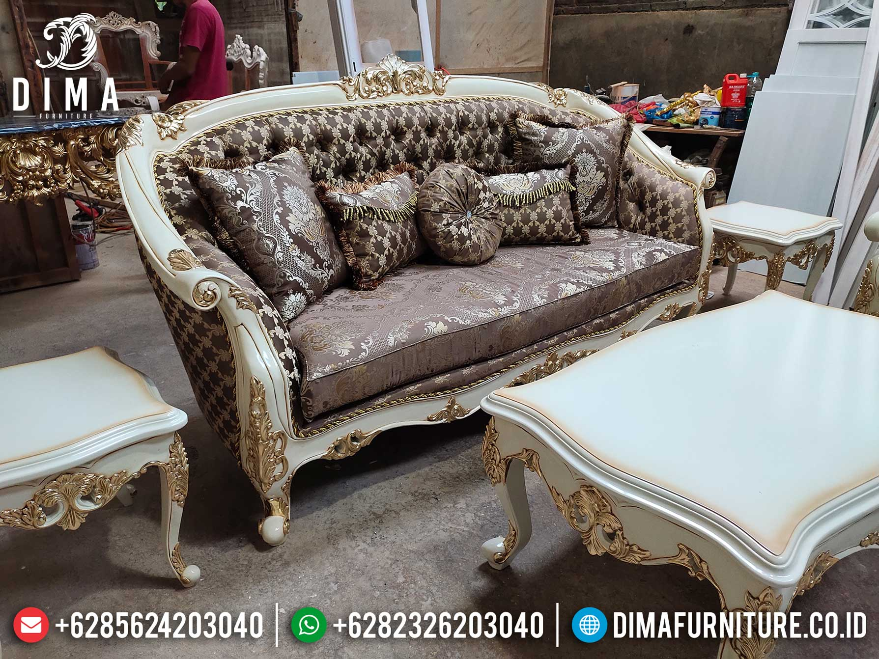 Flash Sale Sofa Mewah Ruang Tamu Luxury Classic Carving Great Quality Design TTJ-1275