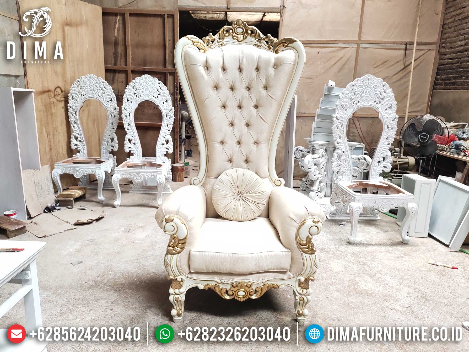 Harga Sofa Tamu Mewah Princes Syahrini Luxury Carving New Luxury Design TTJ-1278