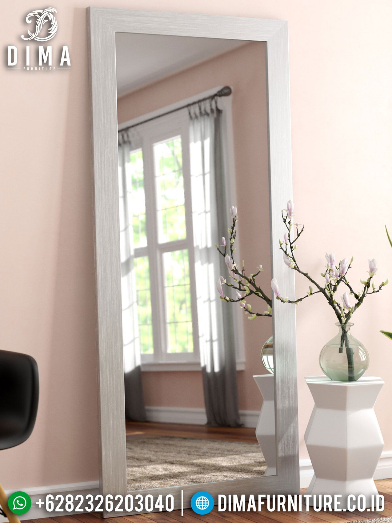 Jual Cermin Rias Minimalis Stand Style Best Quality Mebel Jepara Update TTJ-1295