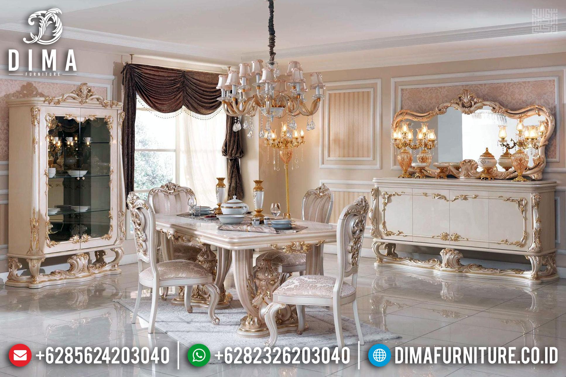 Model Meja Makan Mewah Terbaru Luxury Classic Carving Best Friday Sale TTJ-1343