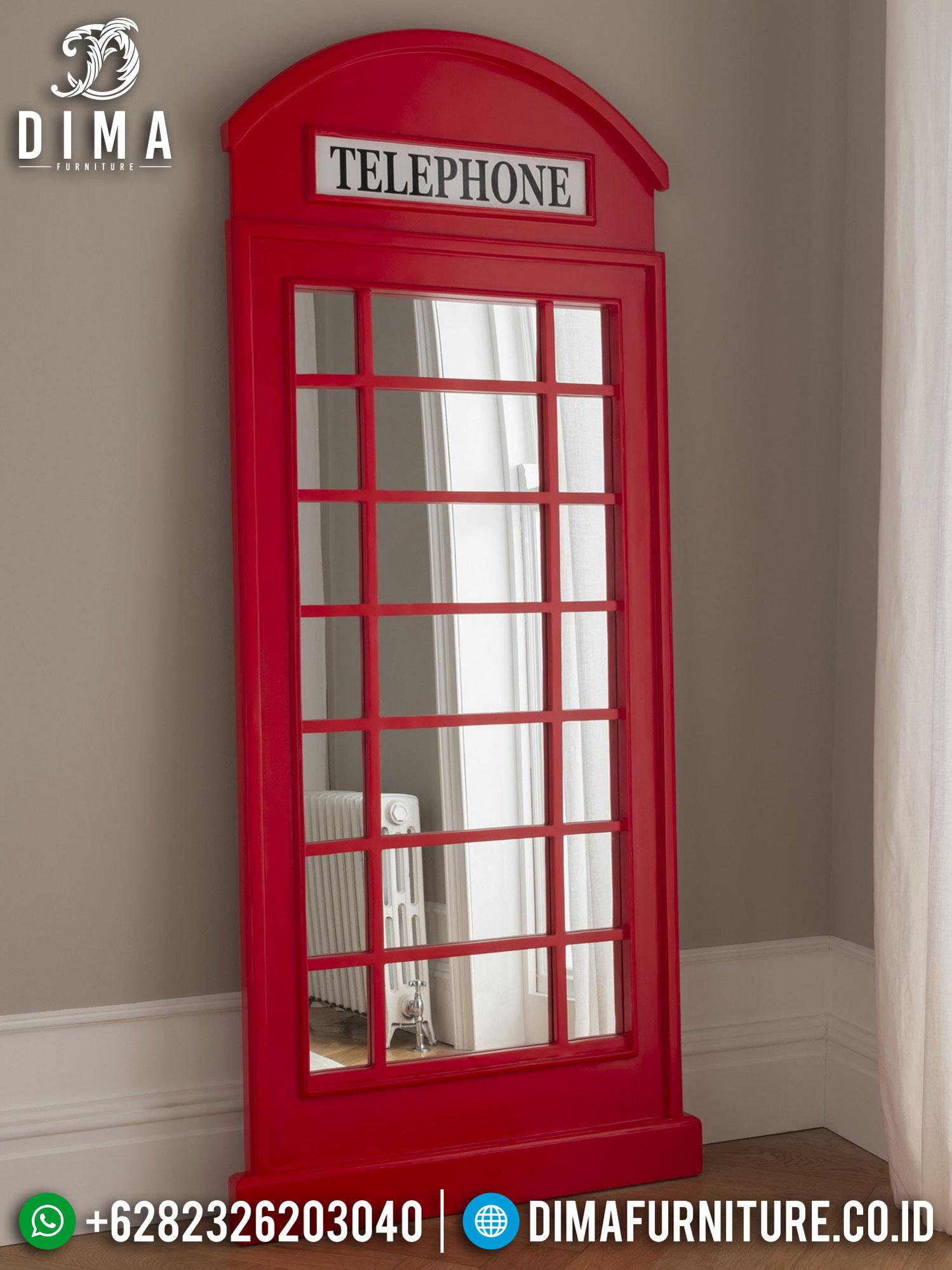 Model Stand Cermin Hias Minimalis Vintage Red Heart Color Classic Design TTJ-1290