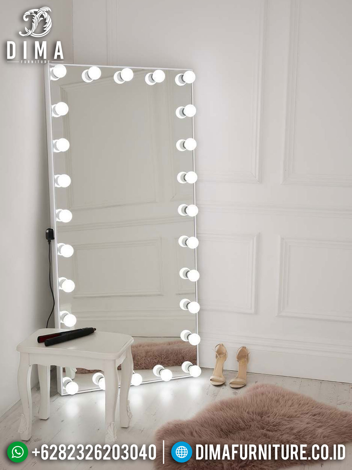 New Cermin Hias Minimalis Lampu Design Fiting Room Inspiring TTJ-1299