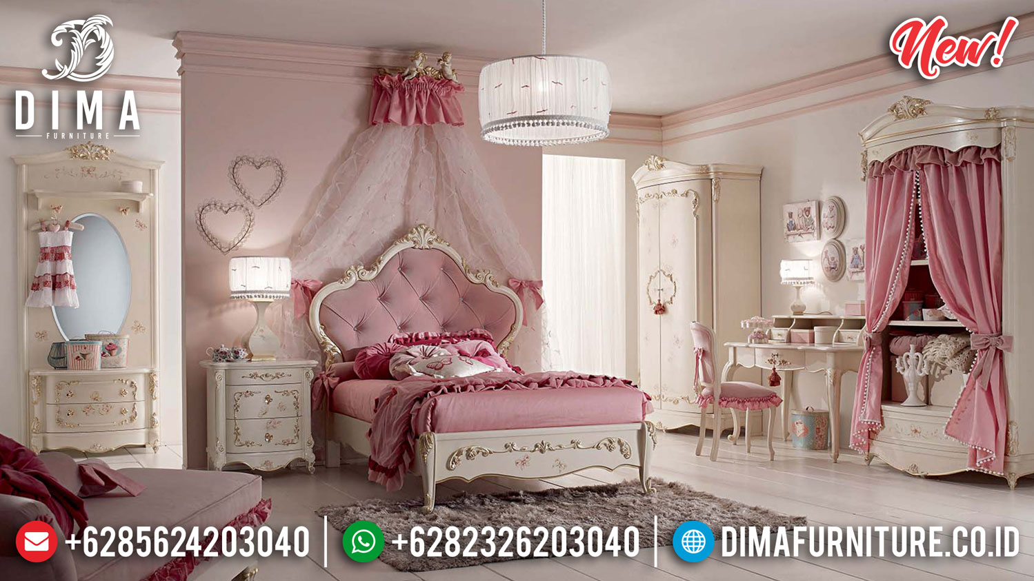 New Kamar Set Mewah Klasik Princes Design Furniture Jepara TTJ-1323