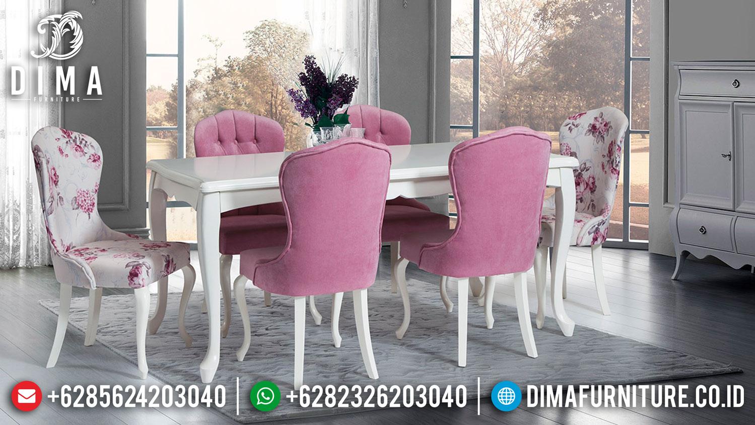 New Meja Makan Minimalis Shabby Fabric Best Quality Foam Furniture Jepara TTJ-1288