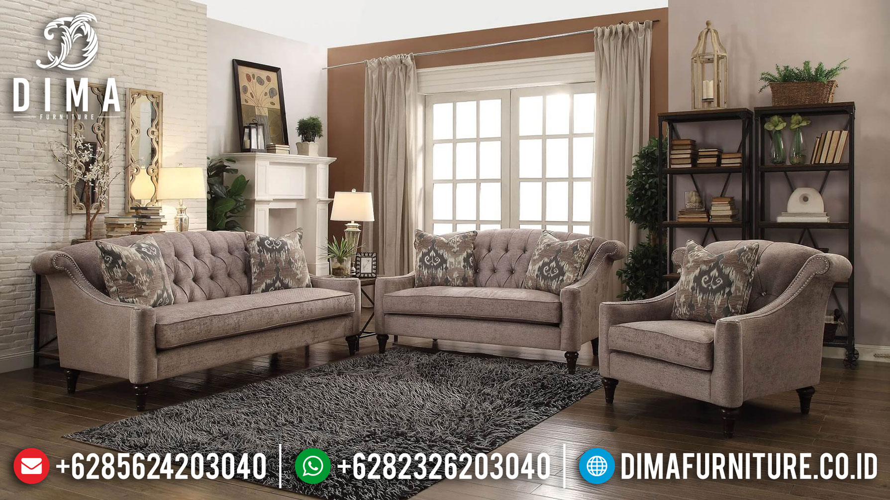 Set Sofa Tamu Minimalis Retro Classic Design New Living Room Inspiring TTJ-1270