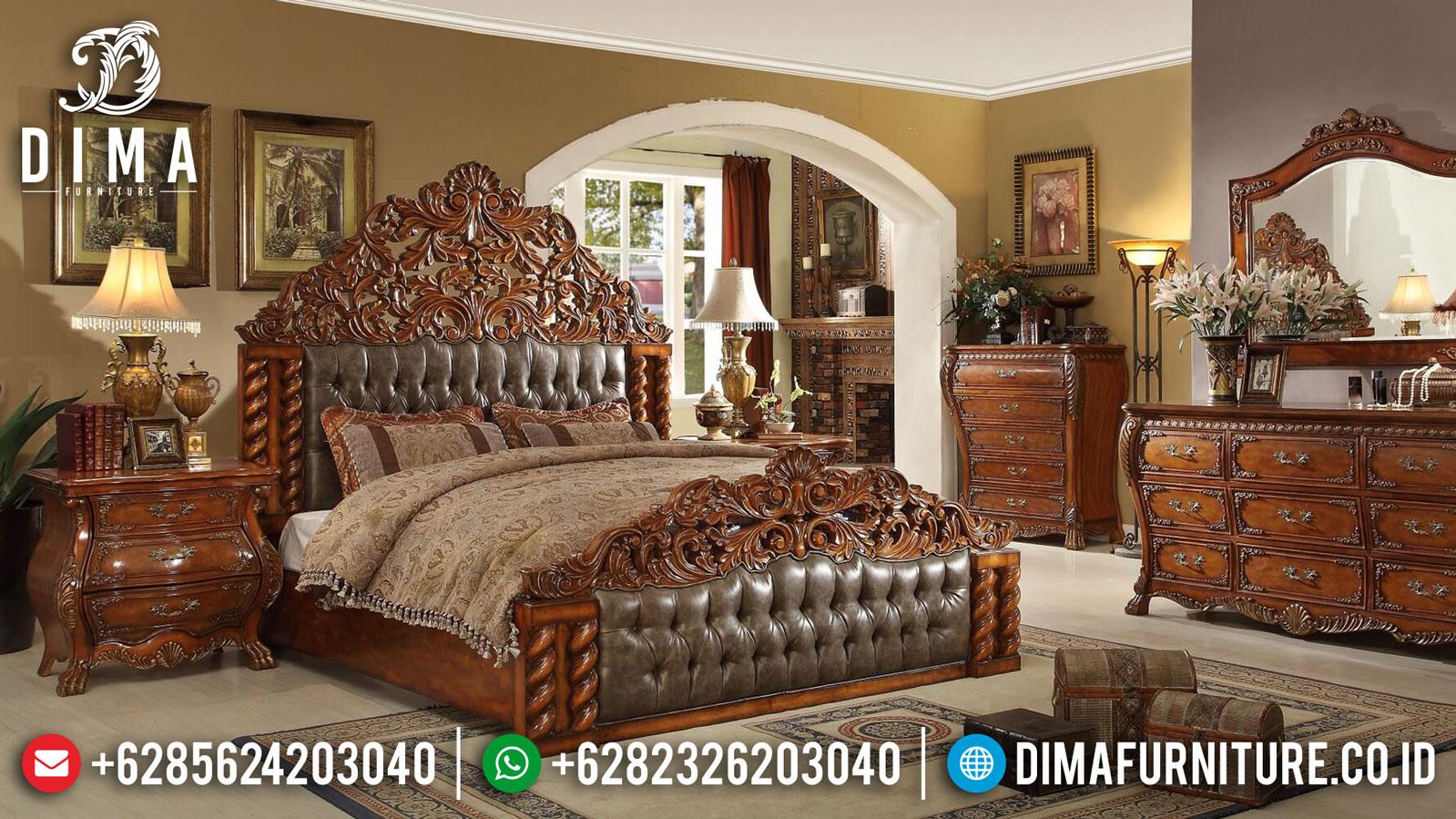 Tempat Tidur Mewah Ukiran Natural Classic Jati Luxury Design TTJ-1328