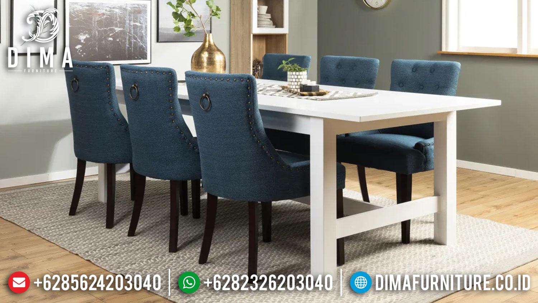 Harga Meja Makan Minimalis Terbaru Natural Kombinasi Duco Luxury Furniture Jepara TTJ-1368