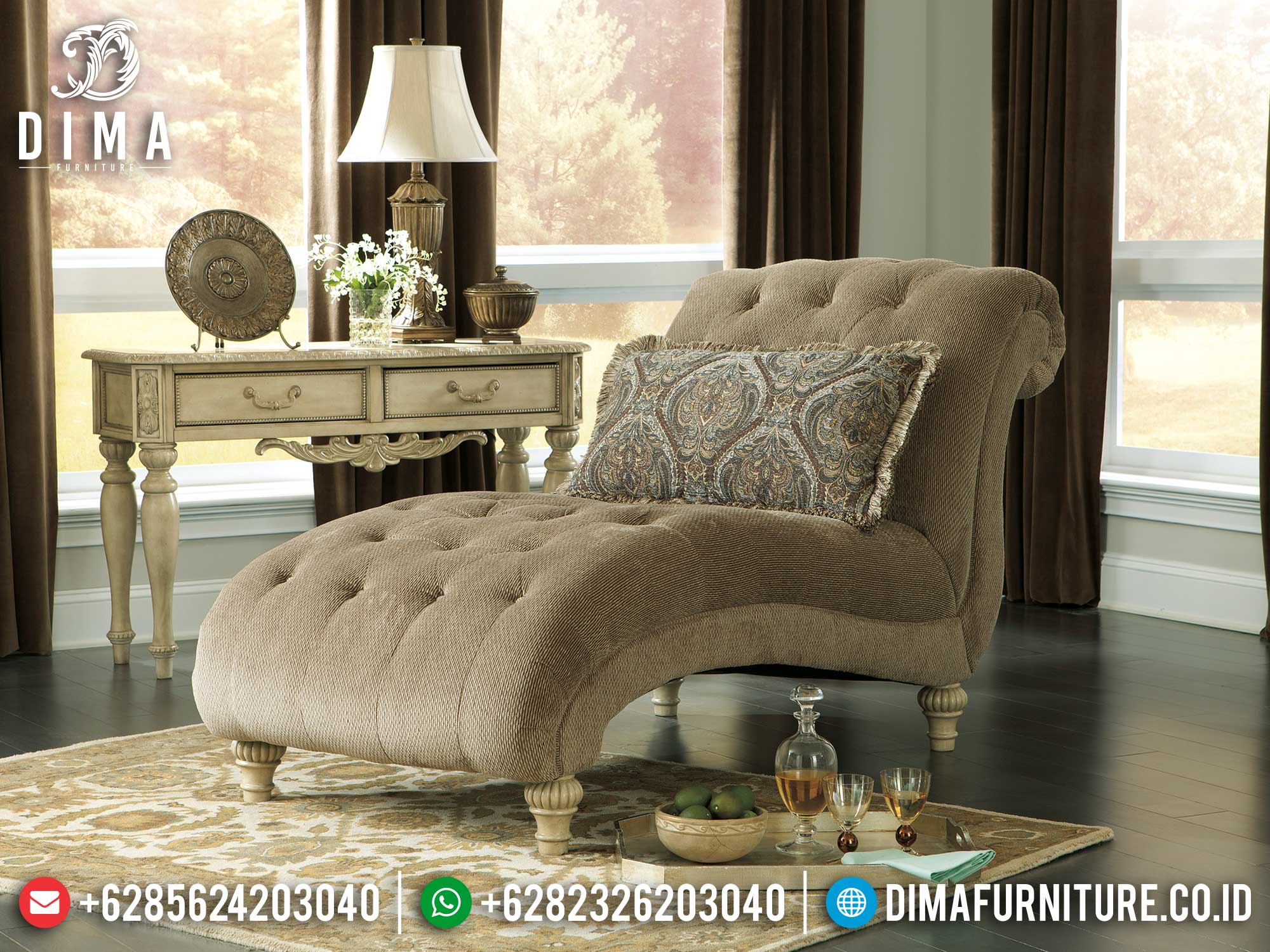 New Sofa Malas Santai Luxury Design Furniture Jepara Terbaru TTJ-1364