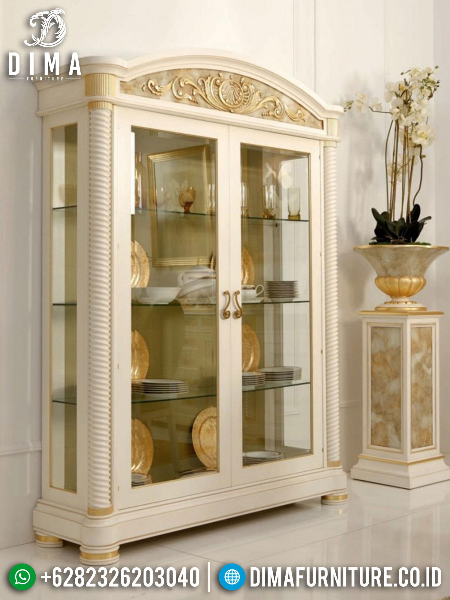 Artistic Lemari Pajangan Mewah Classic Luxury Furniture Jepara New Model TTJ-1451
