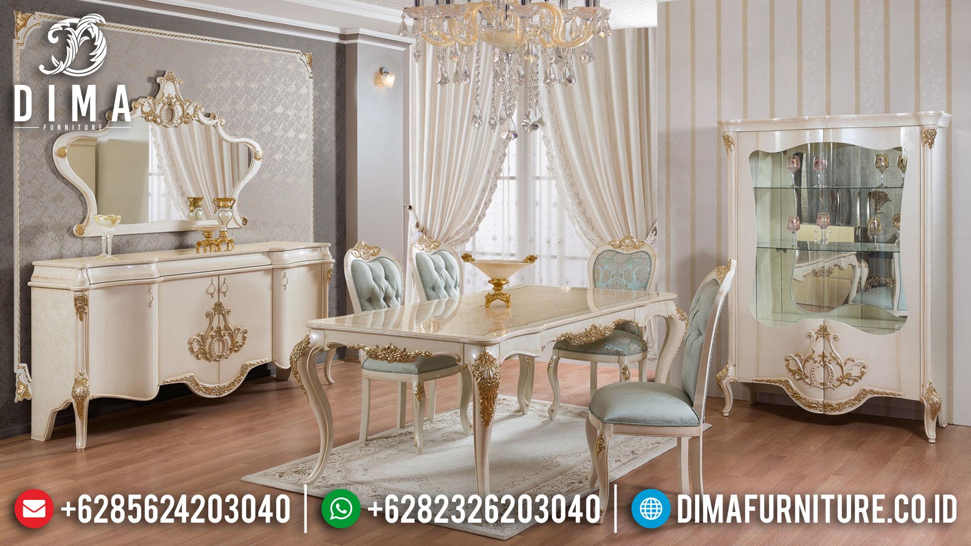 Beautiful Set Meja Makan Mewah Luxury Elegant Style Terbaru TTJ-1376