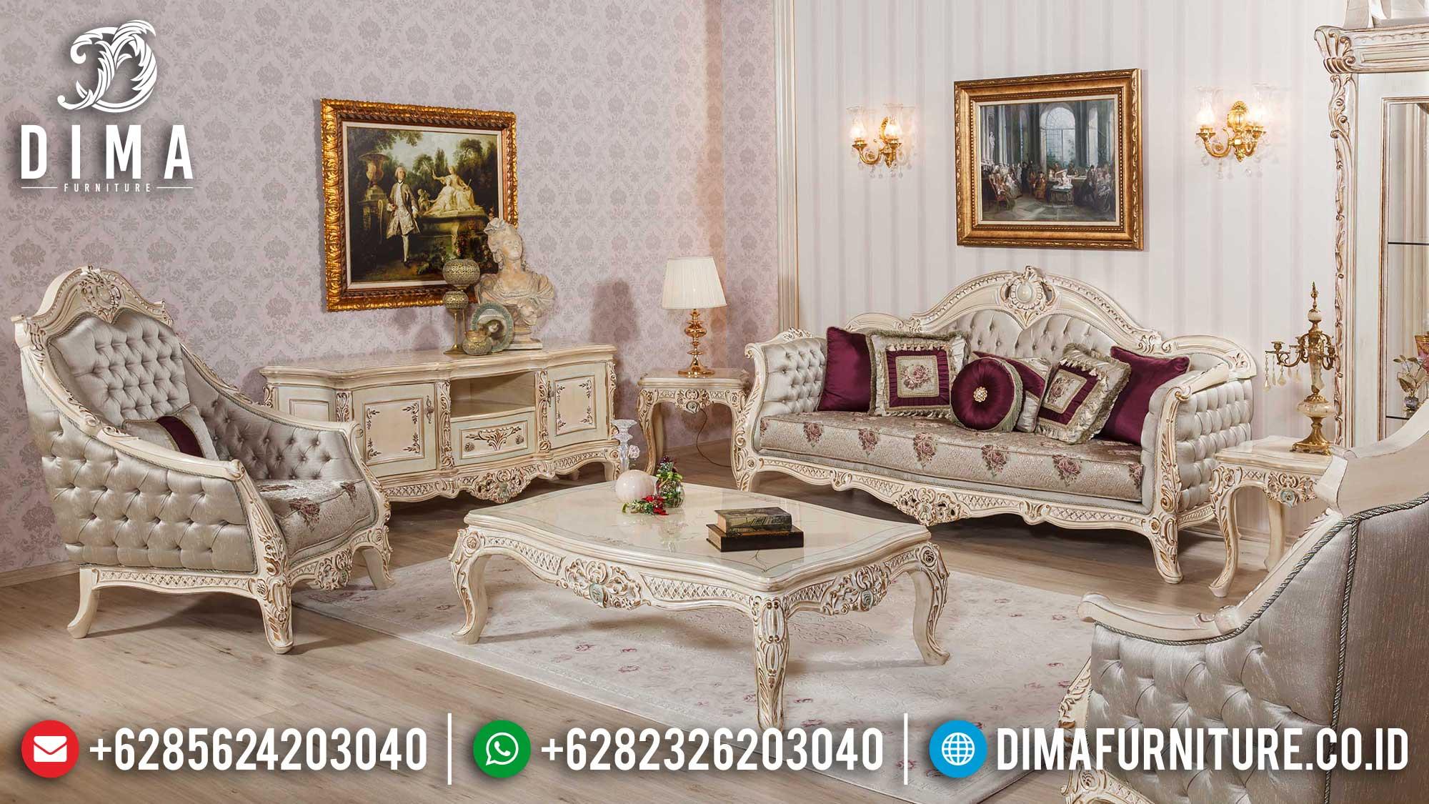 Camonix Color Sofa Tamu Mewah Jepara Terbaru Luxury Carving Majestic TTJ-1508