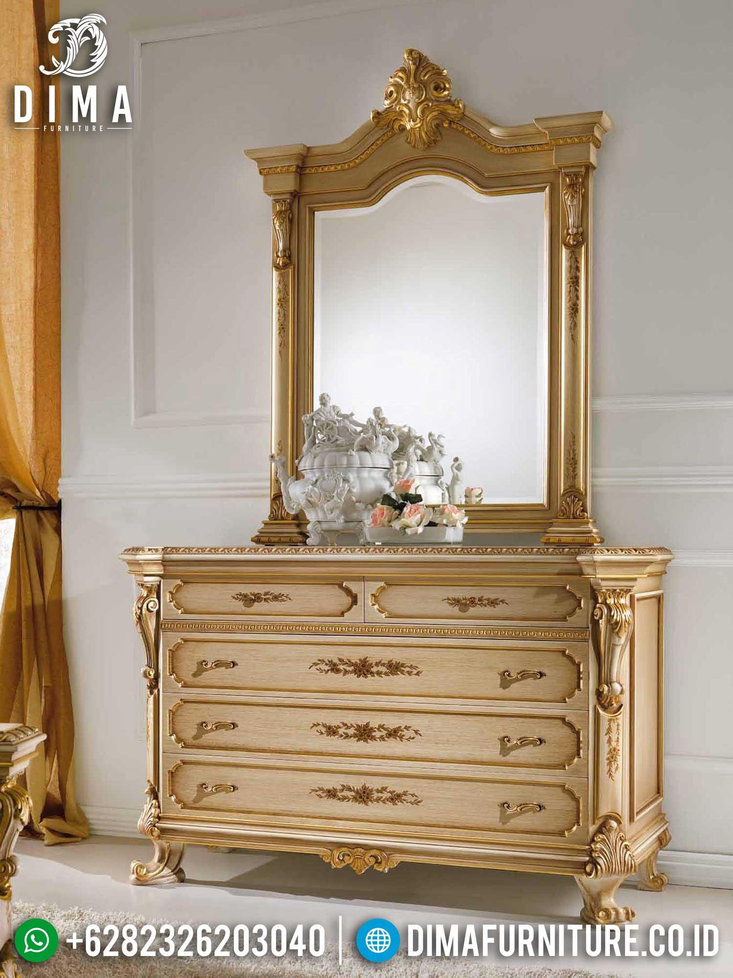 Cermin Hias Mewah, Meja Konsol Ukiran Luxury Premiere Style Furniture Jepara TTJ-1391
