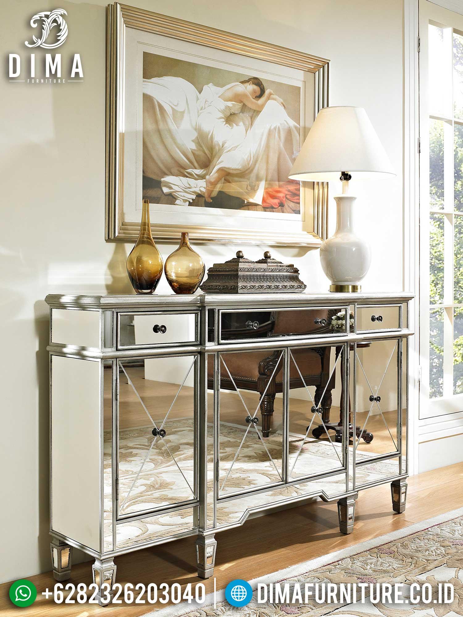 Deluxe Style Meja Konsul Mewah Minimalis Luxury Full Kaca Termewah TTJ-1444