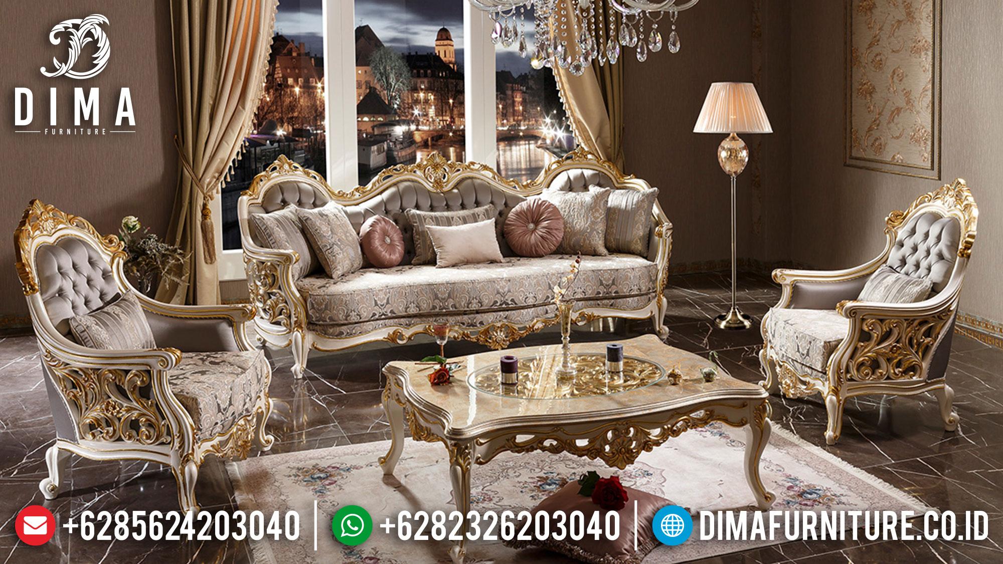 Desain Mewah Sofa Tamu Jepara Superior Premiere Classic Luxury Style Ttj-1531