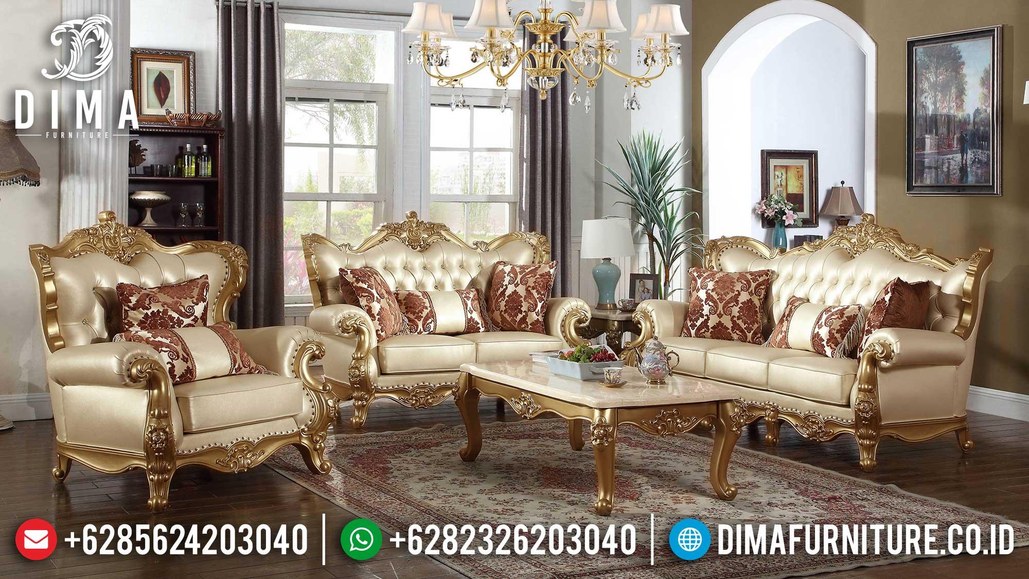 Desain Sofa Tamu Mewah Jepara Luxury Carving Elegant Furniture Jepara TTJ-1486