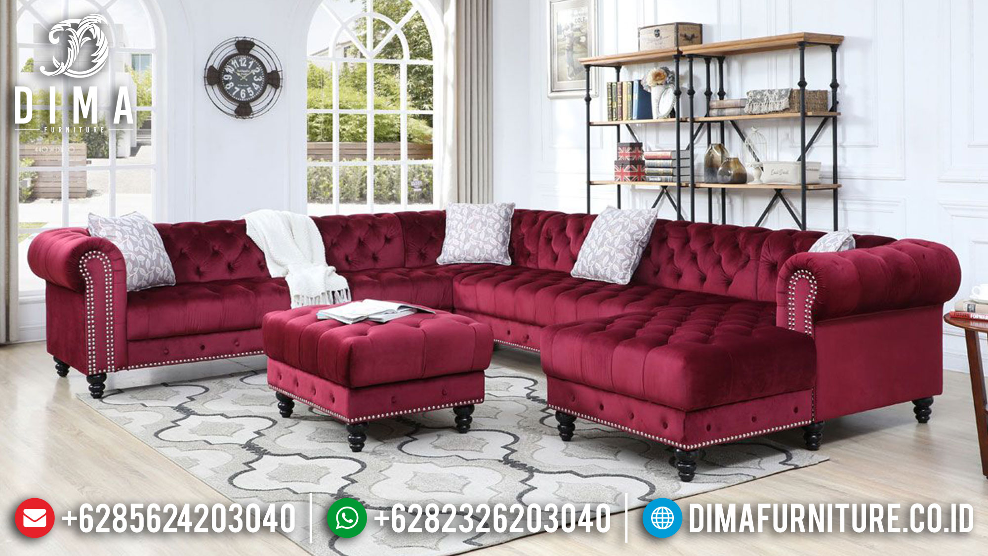 Desain Sofa Tamu Minimalis L, Sofa Tamu Sudut, Sofa Tamu Chester Best Collection Ttj-1481