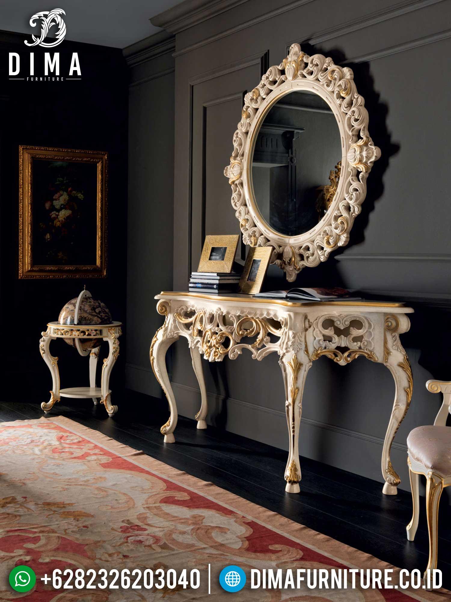Elegant Set Meja Konsul Mewah Jepara Luxurious Design Carving Terbaru TTJ-1426