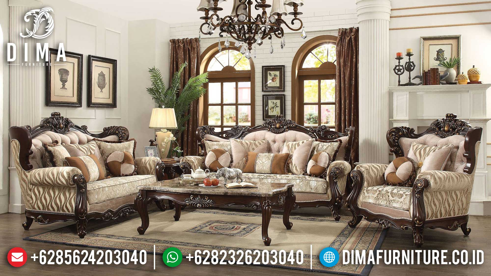 Elegant Sofa Tamu Mewah Classic Luxury Best Collection TTJ-1499